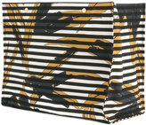 Marni striped oversized tote - women - Cotton/Calf Leather/Nylon/metal - One Size