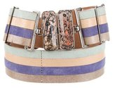 Fendi Multicolor Striped Waist Belt
