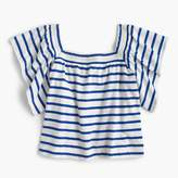J.Crew Girls' two-way striped top