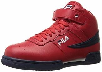 Fila Men's f-13v lea/syn Fashion Sneaker Red Navy/White 11 M US