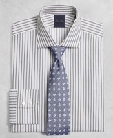 Brooks Brothers Golden Fleece Milano Slim-Fit Dress Shirt, English Collar Alternating-Split-Stripe