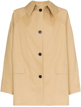 Kassl Editions Button Down Trench Coat