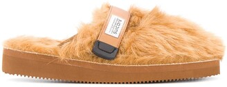 Suicoke Zavo faux fur slippers