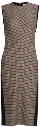 Victoria Beckham Plaid-Front Sheath Dress
