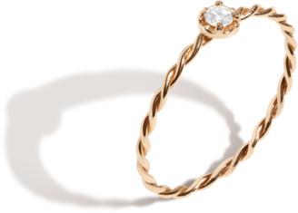 AUrate New York Midi Stackable Twist Diamond Ring
