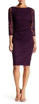 Eliza J Lace Side Ruched Sheath Dress