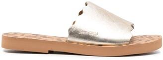See by Chloe Metallic Slip-On Flat Sandals
