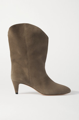 Isabel Marant Dernee Suede Ankle Boots - Taupe