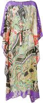 Etro metallic paisley kaftan - women - Silk/Metallic Fibre - M