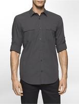 Calvin Klein Classic Fit Mini Glen Plaid Shirt
