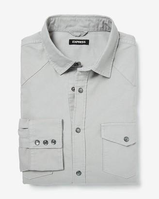 Express Slim Solid Oxford Shirt