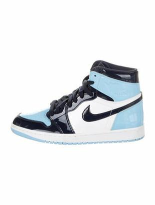 Jordan Retro 1 High UNC Patent Promo Sample Sneakers Blue