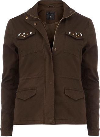 Dorothy Perkins Khaki jewel pocket jacket