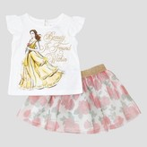 Beauty and the Beast Toddler Girls' Beauty And The Beast Top And Bottom Disney® - White