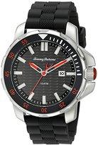 Tommy Bahama Men's 10018292 Big Island Diver 3-Hand Analog Display Japanese Quartz Black Watch