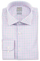 Ike Behar Multicolor Check Dress Shirt, Pink