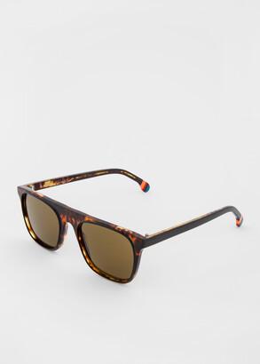 Paul Smith Honeycomb Tortoiseshell 'Cavendish' Sunglasses