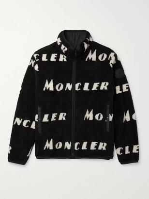 Moncler Reversible Logo-Intarsia Fleece Jacket