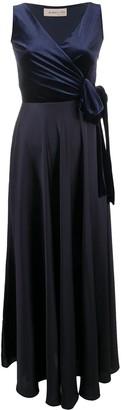 Blanca Vita Long Two-Tone Wrap Dress