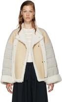 Chloé Beige Shearling & Jersey Coat