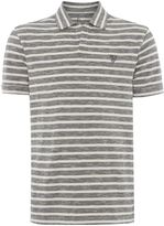Howick Men's Santiago Stripe Slub Resort Neck Polo Shirt