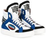 John Galliano racing hi-top sneakers - kids - Calf Leather/Leather/rubber - 29
