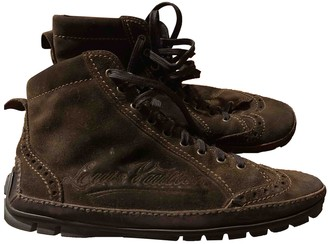 Louis Vuitton Brown Suede Boots