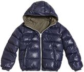 Finger In The Nose Reversible Hooded Nylon Down Jacket