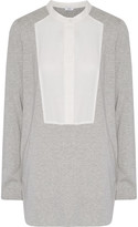 Vince Paneled cotton and modal-blend jersey top