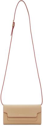 Marni Beige New Long Strap Clutch Bag