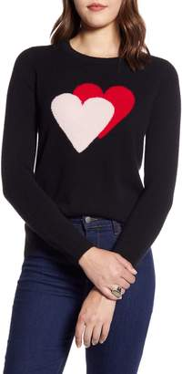 Halogen Cashmere Heart Sweater