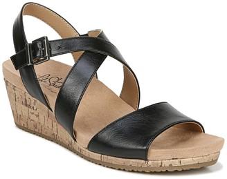 LifeStride Maple Cork Wedge Sandal