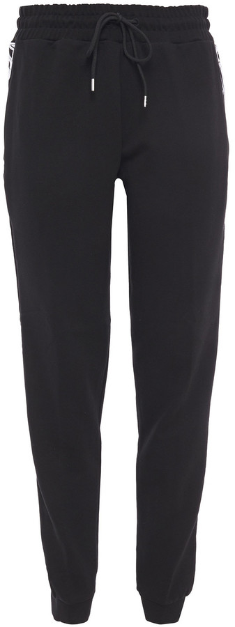 McQ Embroidered French Cotton-terry Track Pants