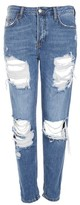 Topshop MOTO Cheeky Rip Hayden Boyfriend Jeans