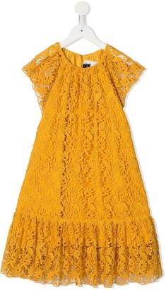 Oscar De La Renta Kids Embroidered Floral Dress