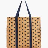 Talbots Dot Canvas Novelty Tote Bag