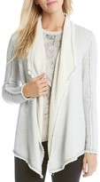 Karen Kane Exposed Seam Draped Terry Cardigan