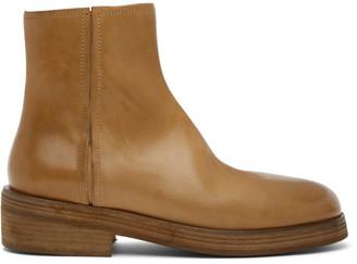 Marsèll Tan Tozzo Tronchetto Zip Boots