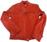 Isabel Marant Red Suede Biker jacket