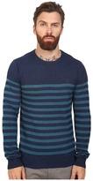 Original Penguin Long Sleeve True Indigo Crew Neck Lightweight Sweater