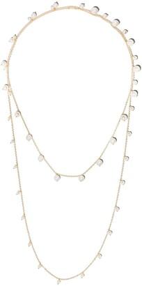 Mizuki 14kt yellow gold Sea of Beauty Akoya pearl long wrap chain necklace