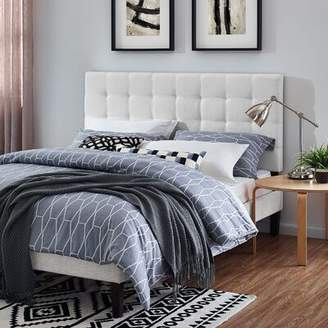 Canora Grey Reichert Upholstered Panel Headboard Canora Grey Color: White, Size: King/California King, Upholstery: Soft Linen