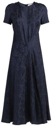 Sportmax Campale Pinstripe Midi Dress