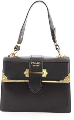 Prada Cahier Convertible Shoulder Bag City Calf and Saffiano Medium