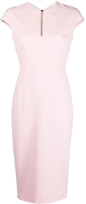 Roland Mouret Fitted-Silhouette Midi Dress