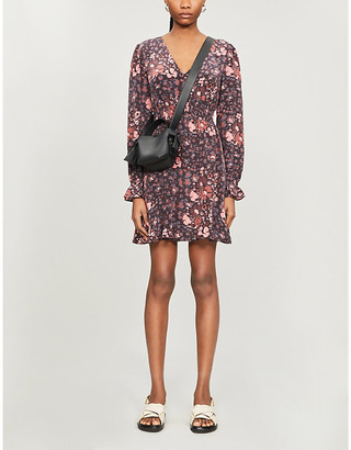 Paige Coriander floral-print silk mini dress