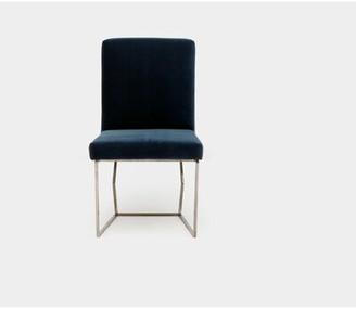 Artless Velvet Upholstered Side Chair Upholstery Color: Shale Velvet, Leg Color: Chrome