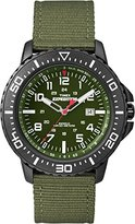 Timex Expedition Men's Quartz Watch with Green Dial Analogue Display and Green Nylon Strap T49944SU