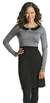 Relativity Sequin Peter Pan Collar Colorblock Sweater Dress