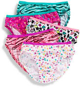Maidenform 5 Pack Girls 7 to 16 Leopard Print Bikini Briefs